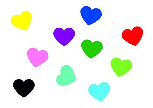 Miniblings 10x Transfert Tissu 22mm LISSE amour coeur timbre coloré I patches à repasser repassage