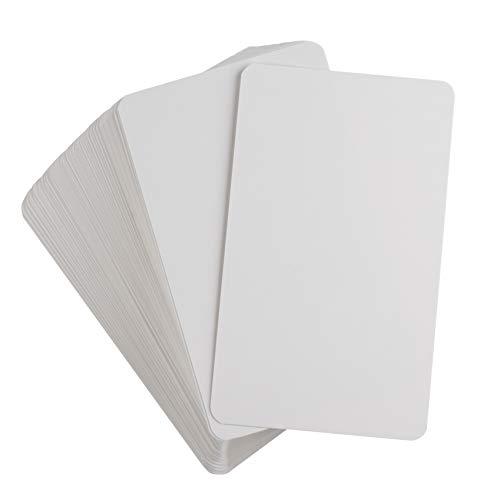Blanko-Spielkarten von Juvale (200 Stück) - Wiederverwendbar - Ideal als Karteikarten, Quiz-Karten, Lernkarten - Für Zuhause, Schule, Klassenzimmer, Büro - Weiß - 12,7 cm x 7,6 cm
