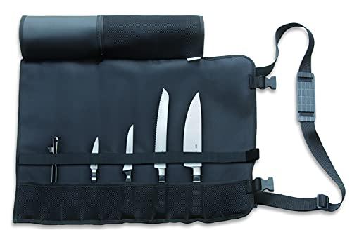 F. DICK 81994000 - Juego de 5 cuchillos de cocina (incluye cuchillo enrollable, pelador y funda de material de fibra sintética lavable)