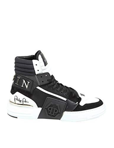 Philipp Plein Luxury Fashion Herren MSC2839PXV001N0201 Schwarz Leder Hi Top Sneakers | Herbst Winter 20