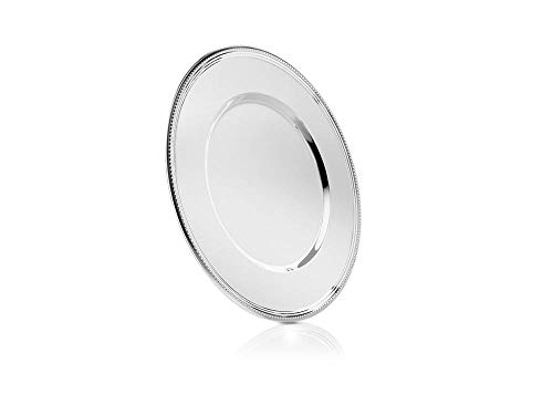 Zilverstad 7838230 Charger Plate Pearl, Steel, Silver, 33 x 33 x 1.3 cm