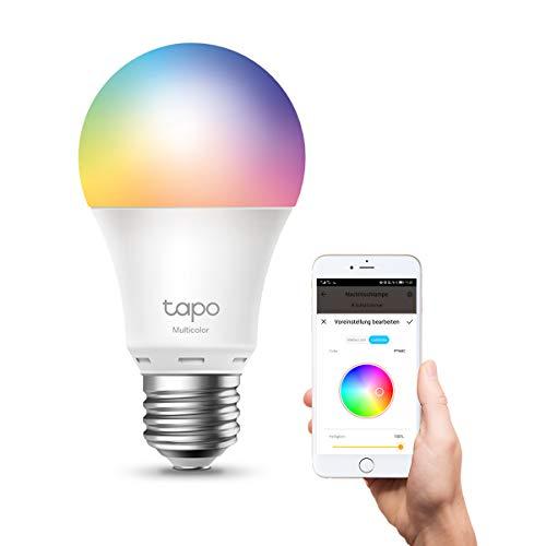TP-Link Tapo L530E smarte WLAN Glühbirne E27, Mehrfarbrige dimmbare alexa smarte lampe, smart home alexa zubehör,kompatibel mit Alexa,Google Assistant,Tapo App,Abläufe und Zeitpläne,Kein Hub notwendig
