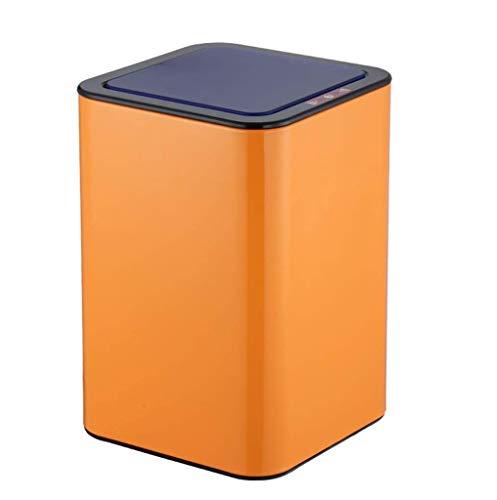 L.TSA Papelera Papelera de Acero Inoxidable Sensor Inteligente infrarrojo Papelera Papelera Hogar Cocina Sala de Estar Respetuosa con el Medio Ambiente Cubo de Almacenamiento silencioso 10L (Color