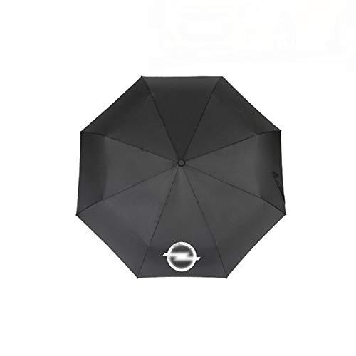 XCBW Paraguas de Negocios Totalmente automático con Logo de Coche, para O-Pel Auto Emblem Rain Umbrella Bumbershoot Hombres Sombrilla Sombrilla Parasol Negro