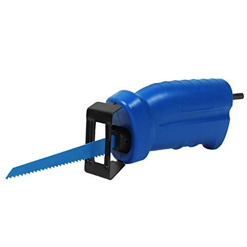DEtrade Säbelsägenadapter Tragbarer Adaptersatz Bohrmaschine in Säge wechseln Säbelsägebohrgerät Inbusschlüssel Sägeblätter Hubsägeset für Elektrische Bohrmaschinen (Blue)