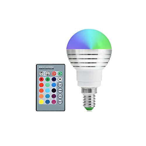 Led Bulbs E14 RGB LED Lampadina Con 24 chiave di Infrared Remote Control Adatto dimmerabile lampadina 5W for Living Room AC 85-265V