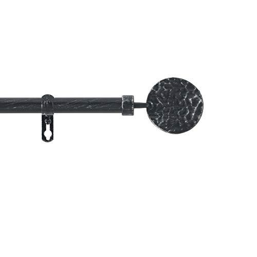 Les Douces Nuits De Mae Kit Tringle Extensible 120 à 210 cm Patine Bullette Noir/Argent