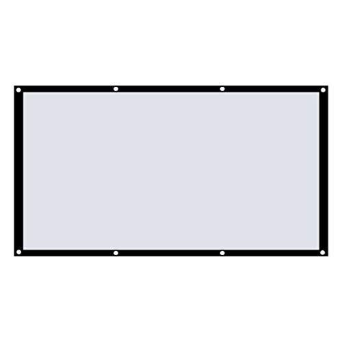 Aiglen Gran Pantalla de proyección para el hogar de diseño Plegable 16: 9, Cine al Aire Libre, Pantalla de Video de película de 120 Pulgadas para proyector