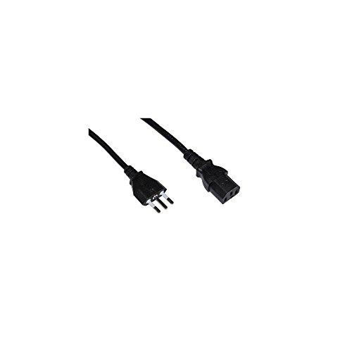 LINK LKIT18 Cavo Alimentazione Spina Italiana Tripolare 10 A. per Computer, Stampanti ECC, 1.8 mt