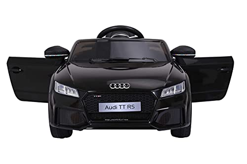 Ricco Toys AUDI TT RS Lisenced Battery Powered Kids Electric Ride On Toy Car with Parental Remote Control BLACK