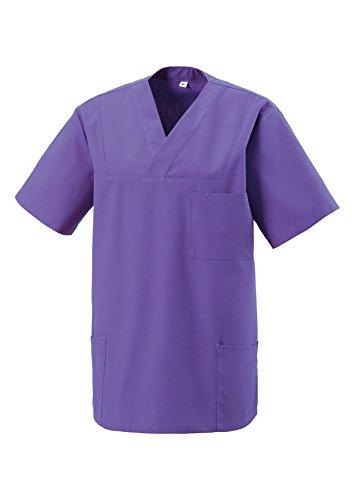 Schlupfkasack Kasack Schlupfjacke Schlupfhemd für Medizin und Pflege OP-Kleidung Purple Gr. L