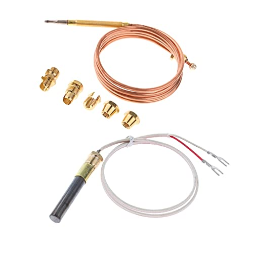 MiaoMiao Conjunto de reemplazo de termopar 90 cm y Ajuste térmico de 61 cm para calderas de Gas y Calentador de Agua de Gas Service