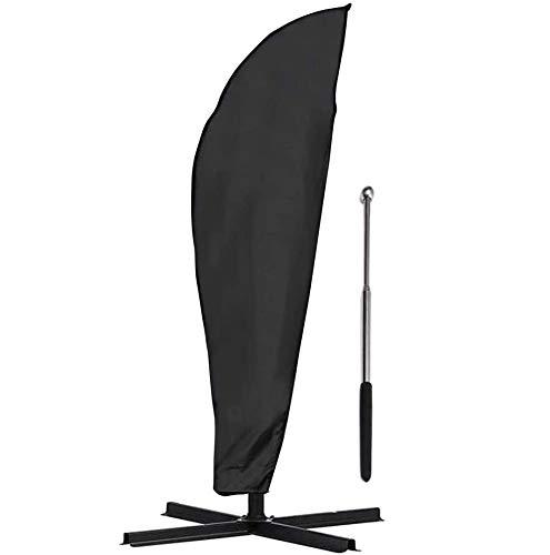 COSANSYS Sonnenschirm Schutzhülle mit Stab Schirmhülle Sonnenschirm Abdeckhauben Abdeckung für Ampelschirm 2 bis 4 M, Große 265x 40cmx50cm/ 70cm,Wasserdicht,Staubdicht usw