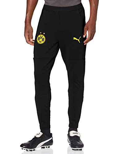 PUMA Herren Jogginghose BVB Training Pants w/Zip Pockets and Zip Legs, Puma Black, L, 757715