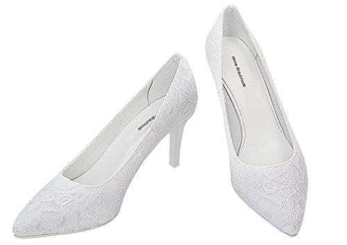 Zapatos de novia, zapatos de boda, zapatos de tacón, color Marfil, talla 40 EU