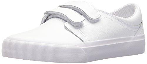 DC Women's Trase V SE Skate Shoe, White/White/Athletic red, 10 B US