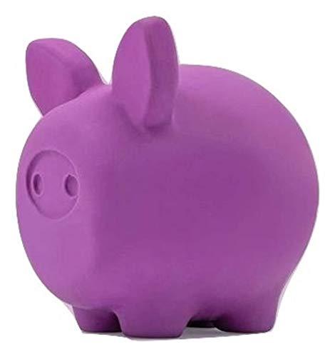 United Pets Pigs Piggy Gioco per Cani a Forma di Maiale, di Design, Gioco in Lattice per Cani, Viola, Taglia Unica
