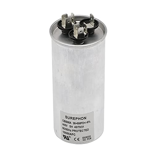 SUREPHON Capacitor for ac 35+5μF Both 370/440 VAC CBB65 for Universal Replacement