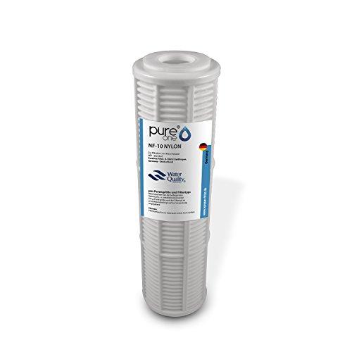 PureOne NF-10 Nylon Siebfilter für 10 Zoll Wasserfilter Gehäuse. Vorfilter, Grobfilter bzw. Sedimentfilter. Feinheiten von 50µ bis 200µ. Für Brunnen, Zisterne, Hauswasserpumpe und Hauswasserwerk 100µ