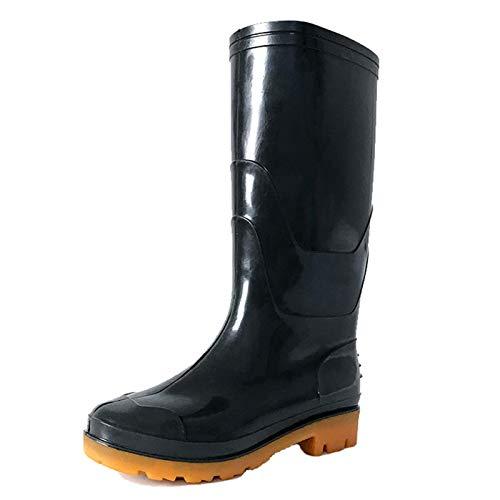 SFGSA Botas Lluvia Bota de Agua Hombre Zapatos a Prueba de Agua Cubierta del Zapato Impermeable Moto Botas,39