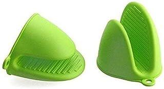 GawinAnser 1 par (2 piezas) Mini guantes de silicona para horno, guantes de microondas resistentes al calor, guantes de cocina
