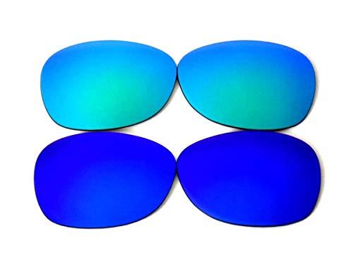 Lentes de repuesto para Galaxy Ray-Ban RB2132 New Wayfarer azul/verde 52 mm (no 55 mm) polarizadas 100% UVAB