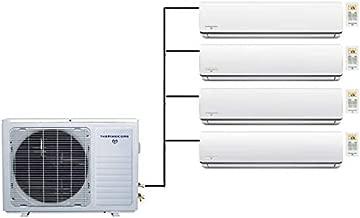 Thermocore 48000 BTU Quad Zone Ductless Air Conditioner Heat Pump Mini Splits, X
