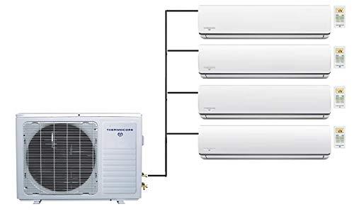 Thermocore 48000 BTU Quad Zone Ductless Air Conditioner Mini Splits, Heat Pump: X