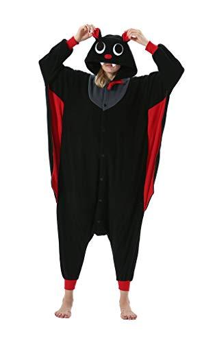 Adultos Animal Pijamas Cosplay Animales de Vestuario Ropa de Dormir Halloween y Carnaval Disfraces Murciélago M