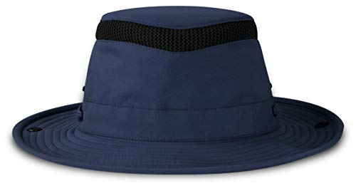 Tilley LTM3 Airflo Outdoor Hat, UPF 50+, Water-Repellent and Buoyant - Perfect for Sailing, Navy,7 1/4