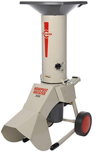 Cramer Broyeur de végétaux électrique KM SILENT 2400W - 370 kg/h - Capacité 40 mm - 50% de bruit en moins