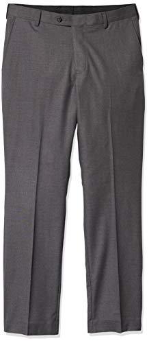 Arrow Men's Heather Sharkskin Dress Pant, 012 Grey, 38/30