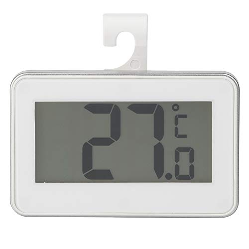 Bewinner Termómetro Interior/Exterior Alta precisión en Temperatura Termómetro electrónico Resistente al Agua Compacto/Ligero/Portátil(Blanco)