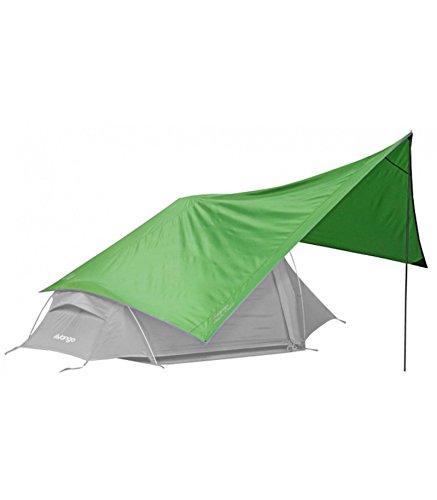 Vango Trek Tarp Sonnensegel Trekking Vorzelt Camping Outdoor 5000mm Vorbau für Zelt Familienzelt oder Sonnenschutz mit Alu Stange Regendicht