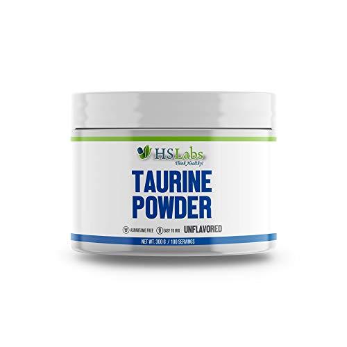 HSLabs TAURIN Pulver 3000mg Hochdosiert Pre Workout Aminosäure (300g)