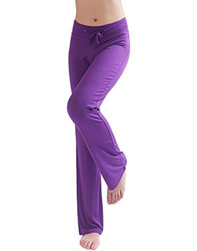 Hoerev - Pantalones de yoga para mujer morado XXXL
