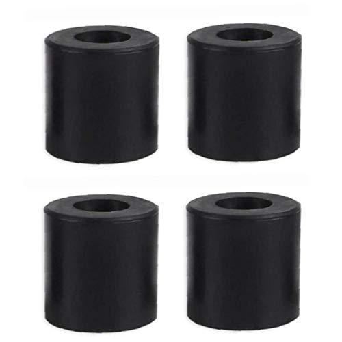 Aiyrchin 3D-Drucker Leveling Teile Heatbed Silikon-Leveling Spalte Hitzebett Buffer, 4 Stück schwarz