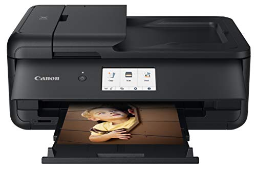 Canon PIXMA TS9520 All In one Wireless Printer For Home or Office| Scanner | Copier | Mobile Printing with AirPrint and Google Cloud Print, Black, Works with Alexa