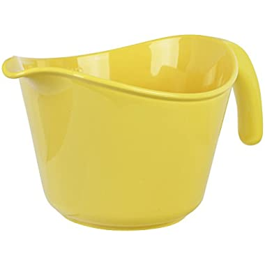 Calypso Basics by Reston Lloyd 2-Quart Microwave Safe Batter Bowl, Lemon