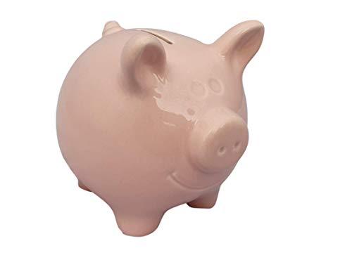 Hucha de cerámica extra grande XXL rosa, hucha reutilizable para vacaciones, boda, coche, casa, niños, regalo para bautizo, nacimiento, cumpleaños, casa, hucha moderna y grande