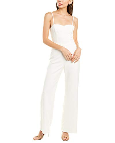 French Connection Women's Strappy Slightly Flared Leg Jumpsuit, Summer White Sweetheart, 2