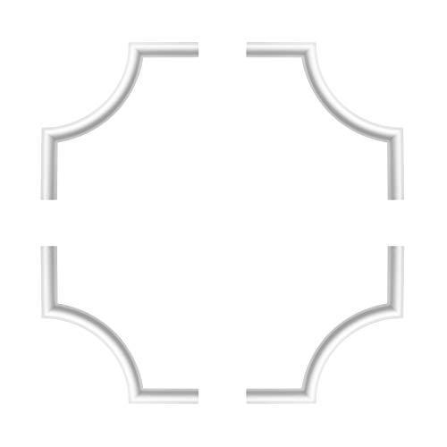 1 Set Segmente Bögen für Flachleiste E-27 | Stuck | Marbet Design | NE-27-01