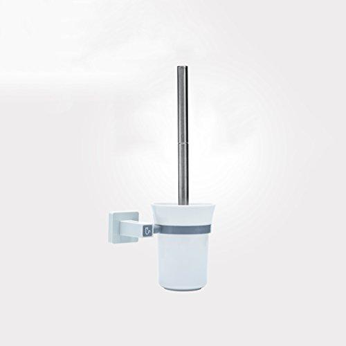 LWF Brosse de toilette à long manche pour nettoyer le coin de l'ensemble de Racks Brosse de toilette à tête ronde pour WC mural