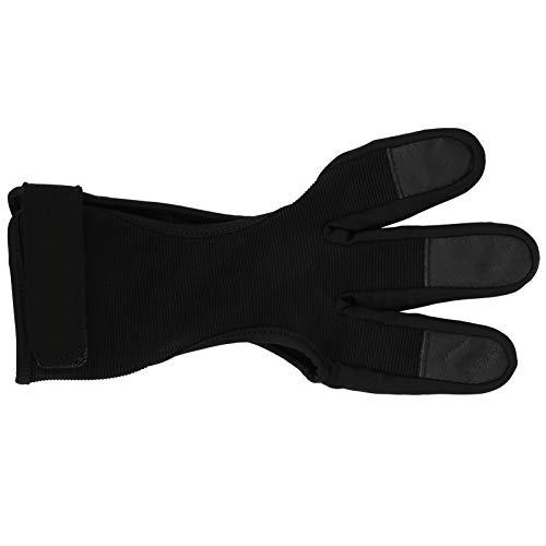 Keenso Finger Tab Accessories, Protector de Dedos para Tiro con Arco Deportivo al Aire Libre, Antideslizante, Transpirable, Protector de Tiro con Tres Dedos(S/M)