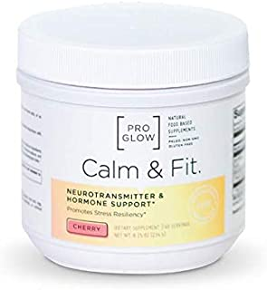 ProGlow Calm & Fit- Stress Relief Supplement for Natural Calming and Focus (60 Servings)