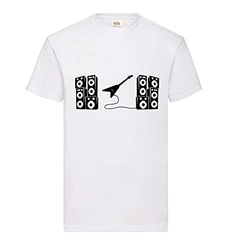 Shirt84.de - Camiseta de Manga Corta para Hombre, diseño de Guitarra eléctrica...