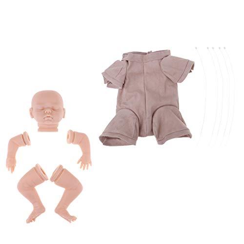 perfeclan Kit de Cabeza Extremidades Muñeca Reborn Complimentos Bebé de 18 Pulgadas Cómodo - 1 Set
