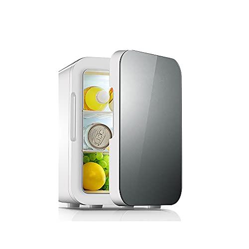 QPMY Refrigerador Pequeño, 4.2 Pies Cúbicos De Refrigerador Pequeño, Doble Energía De Frío Y Calor, Estante Móvil, Congelador Silencioso Y Que Ahorra Energía,Azul