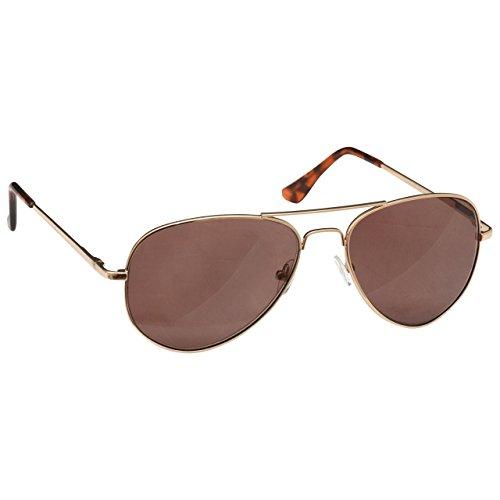 The Reading Glasses Company Die Lesebrille Unternehmen Gold Sonnen-Leser Metallllrahmen UV400 Herren Damen S8-9 +1,00