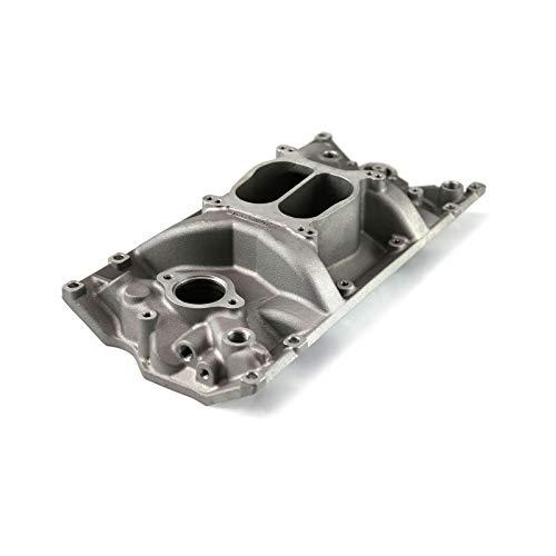 Speedmaster 1-147-004 Chevy SBC 350 LowRise Vortec Intake Manifold Satin Intake Manifolds, Carbureted